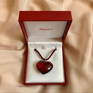 Baccarat red heart pendant